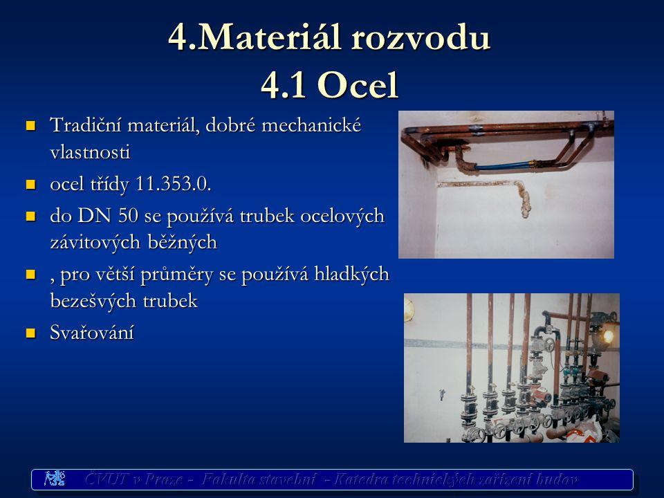 4.Materiál rozvodu 4.1 Ocel Tradiční materiál, dobré mechanické vlastnosti. ocel třídy 11.353.0.