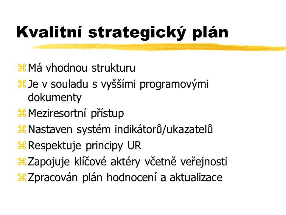 Kvalitní strategický plán