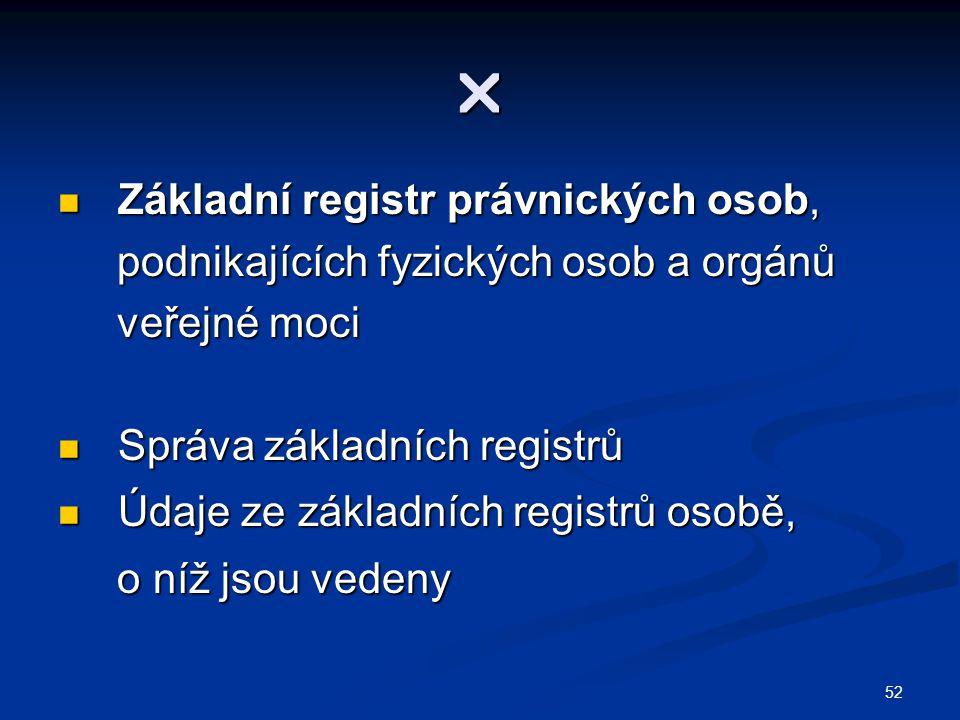  Základní registr právnických osob,