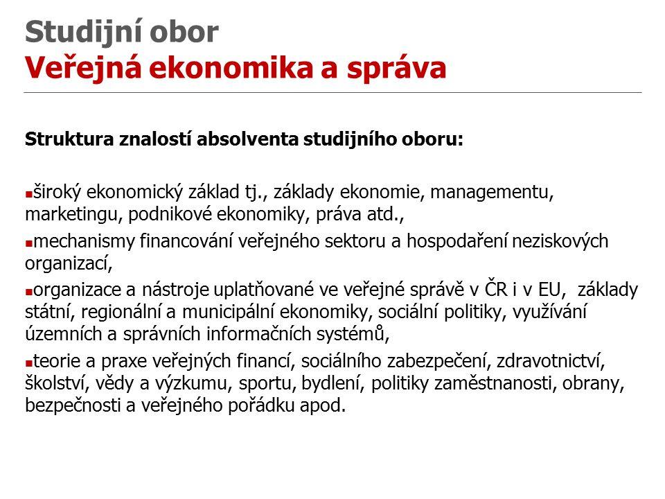Studijní obor Veřejná ekonomika a správa