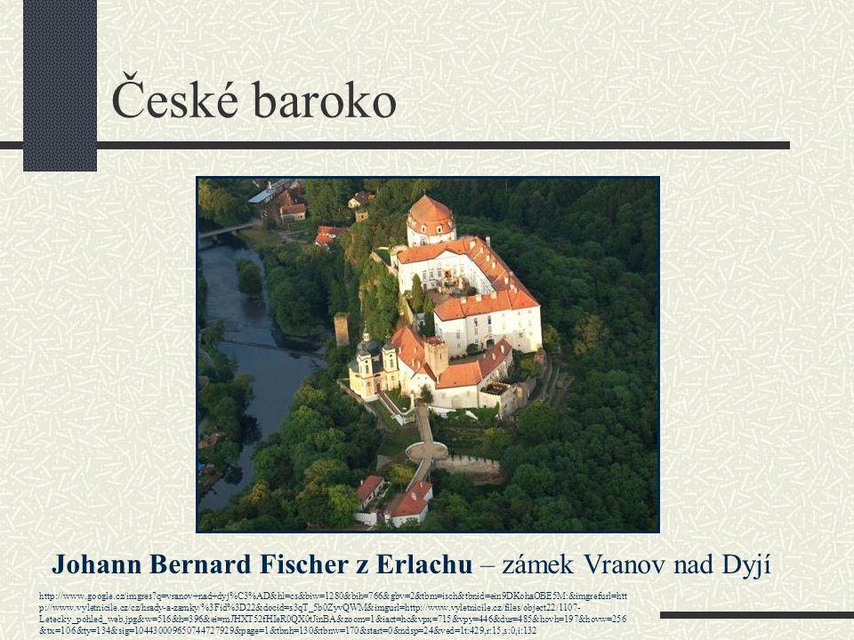 České baroko Johann Bernard Fischer z Erlachu – zámek Vranov nad Dyjí