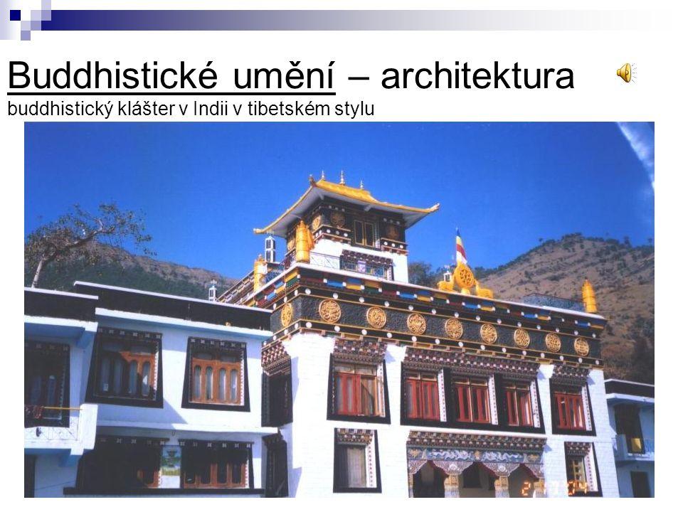 Buddhistické umění – architektura buddhistický klášter v Indii v tibetském stylu