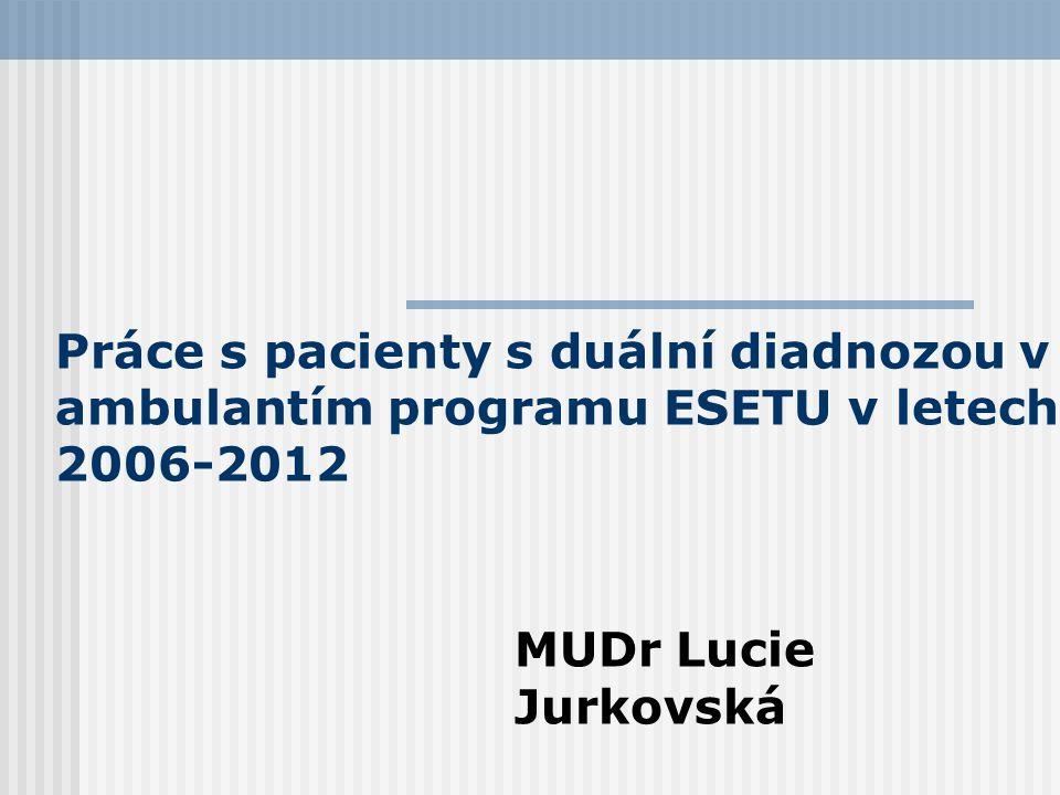 Práce s pacienty s duální diadnozou v ambulantím programu ESETU v letech 2006-2012