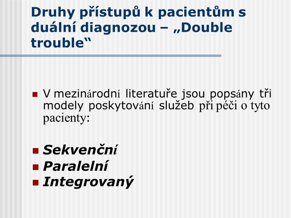 """Druhy přístupů k pacientům s duální diagnozou – """"Double trouble"""