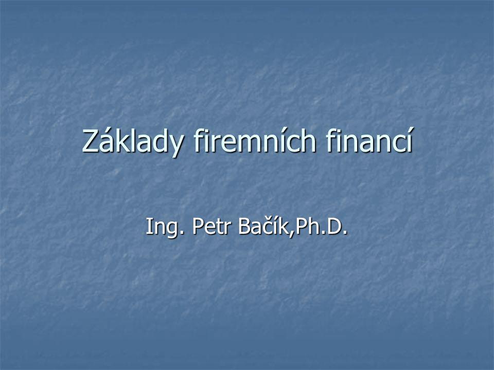 Základy firemních financí