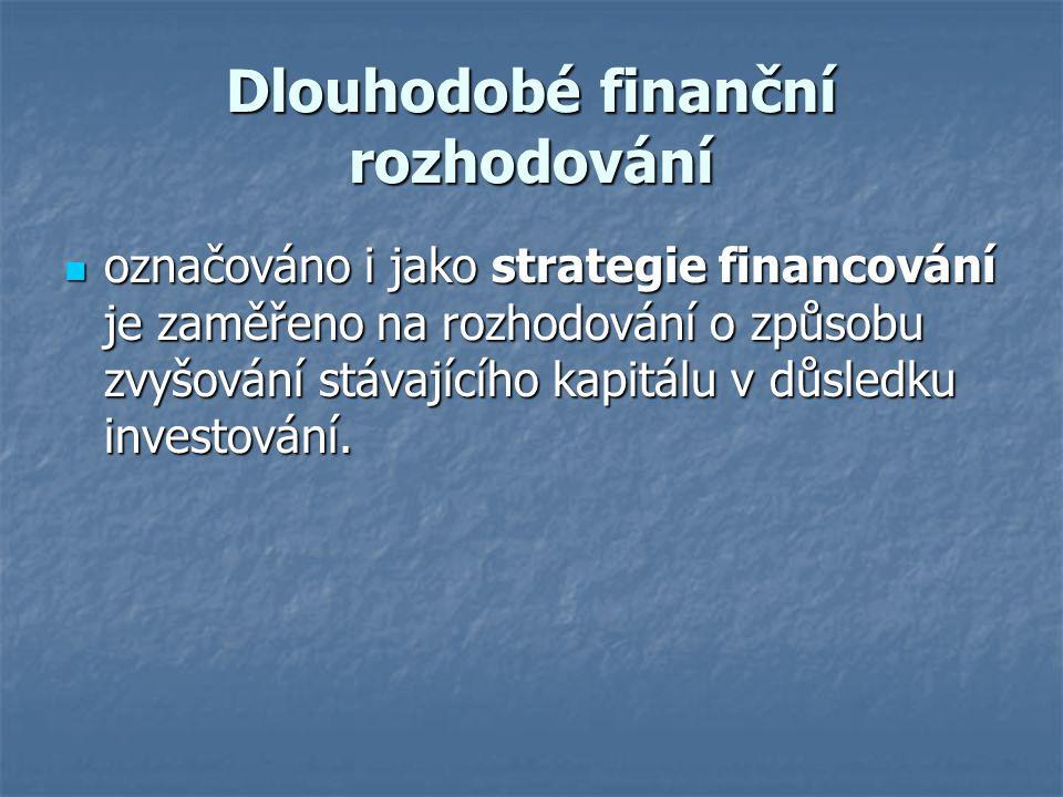 Dlouhodobé finanční rozhodování