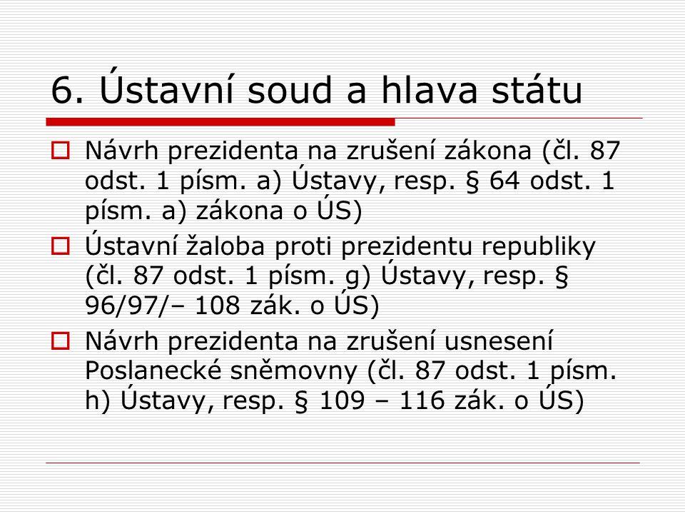 6. Ústavní soud a hlava státu