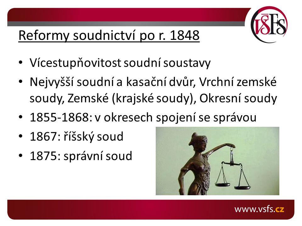 Reformy soudnictví po r. 1848