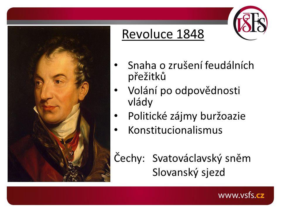 Revoluce 1848 Snaha o zrušení feudálních přežitků