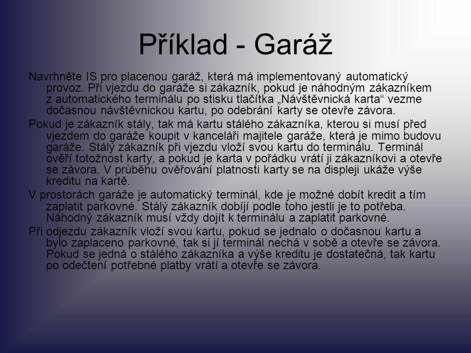 Příklad - Garáž