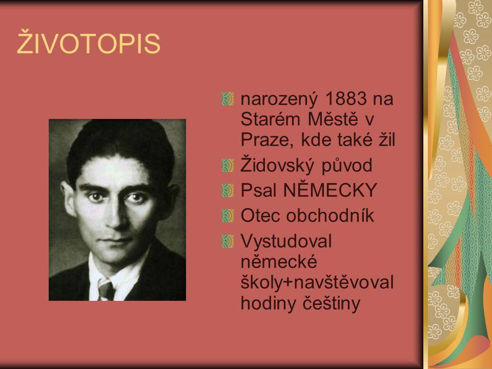 ŽIVOTOPIS narozený 1883 na Starém Městě v Praze, kde také žil