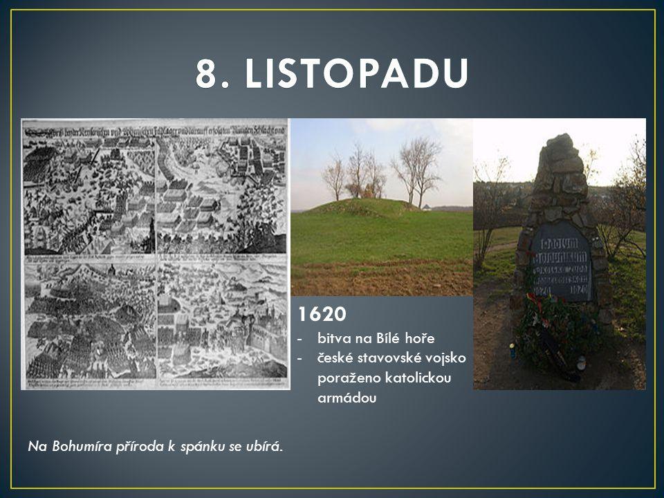 8. LISTOPADU 1620 bitva na Bílé hoře
