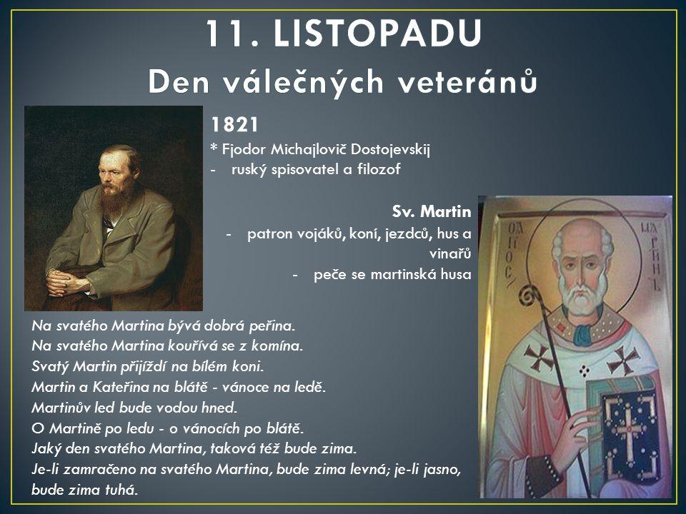 11. LISTOPADU Den válečných veteránů