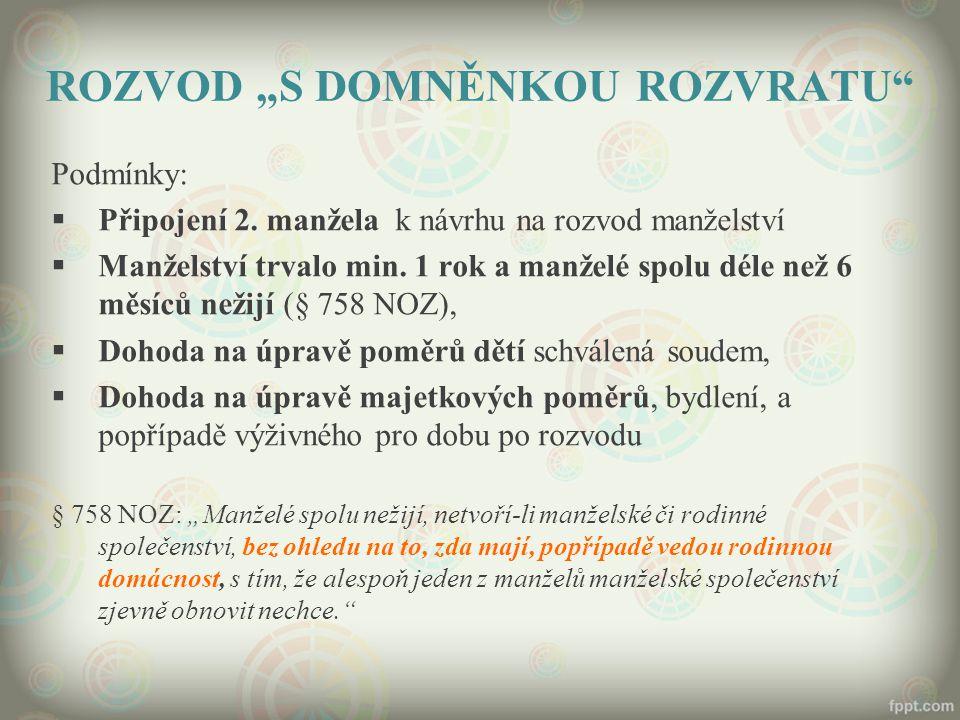 """ROZVOD """"S DOMNĚNKOU ROZVRATU"""
