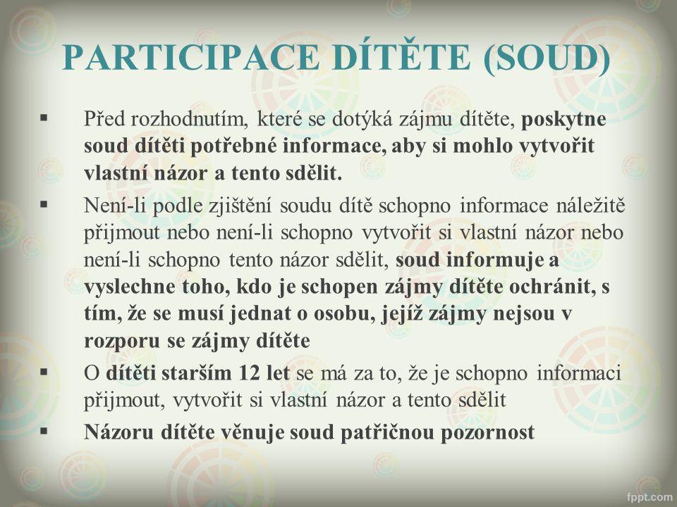 PARTICIPACE DÍTĚTE (SOUD)