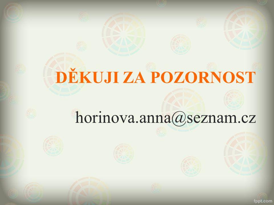 DĚKUJI ZA POZORNOST horinova.anna@seznam.cz