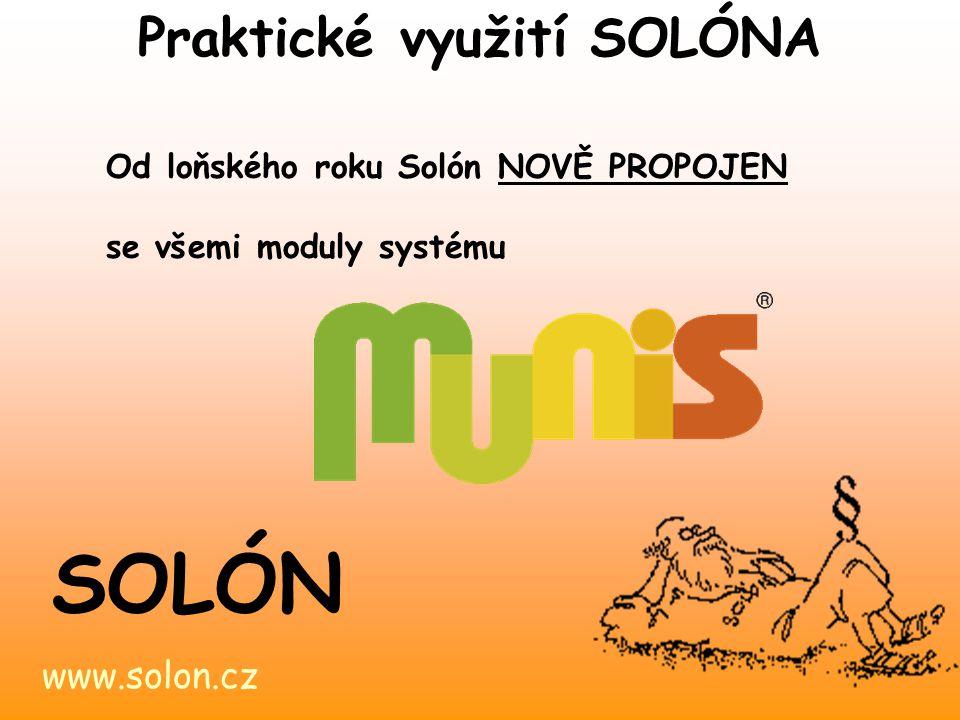 Praktické využití SOLÓNA