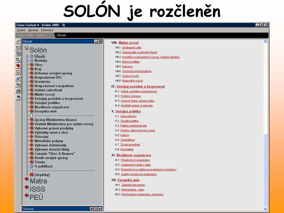 SOLÓN je rozčleněn Den malých obcí Vyškov 2.11.2004