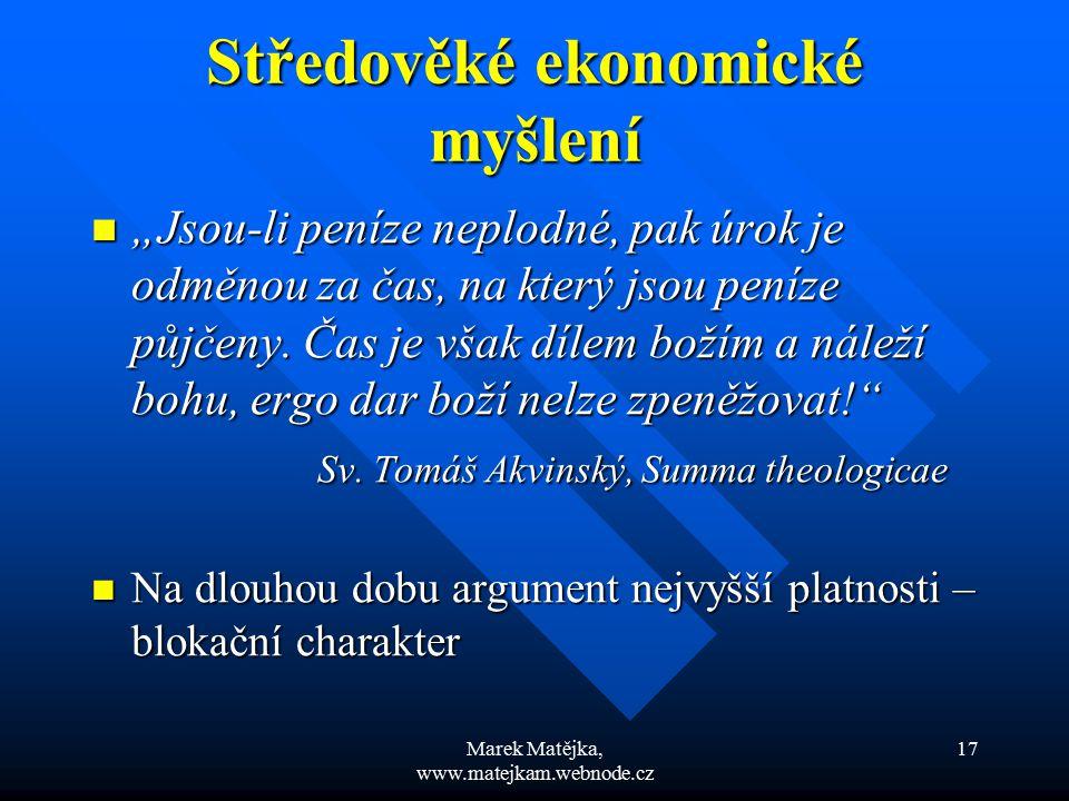 Středověké ekonomické myšlení