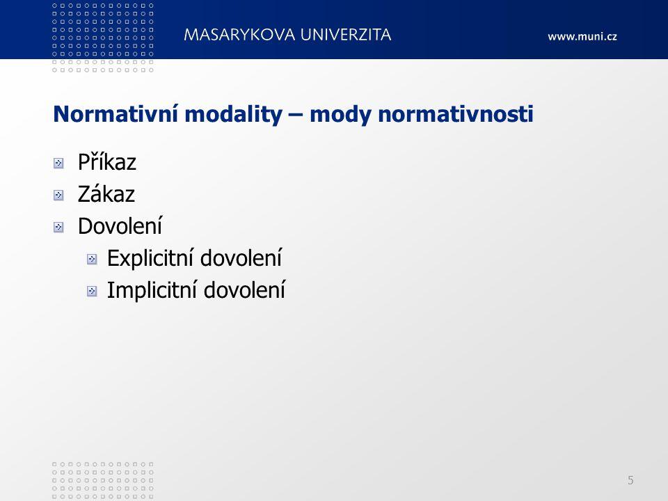 Normativní modality – mody normativnosti