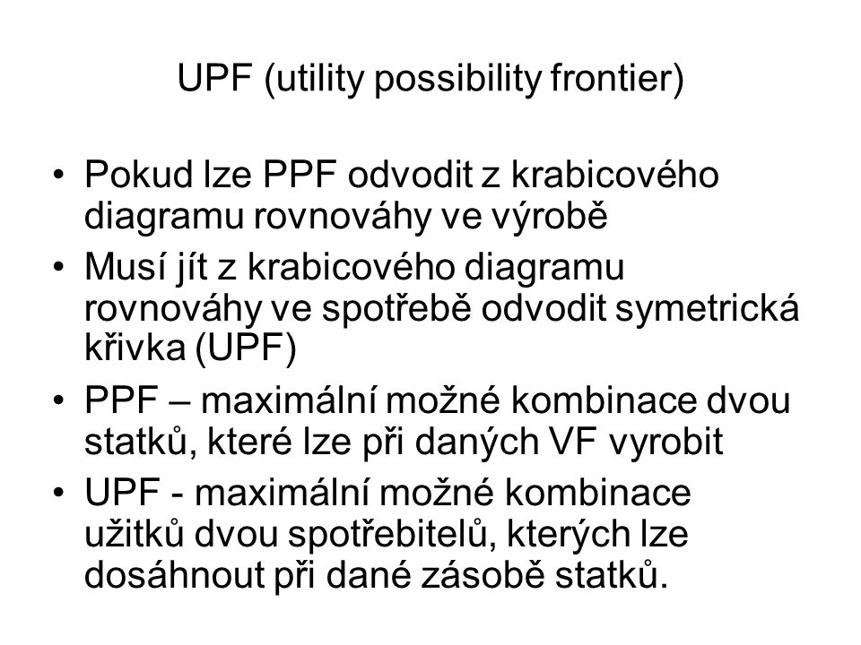 UPF (utility possibility frontier)‏