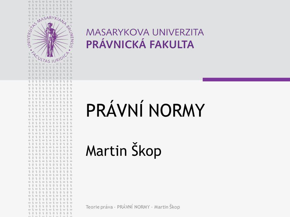 PRÁVNÍ NORMY Martin Škop