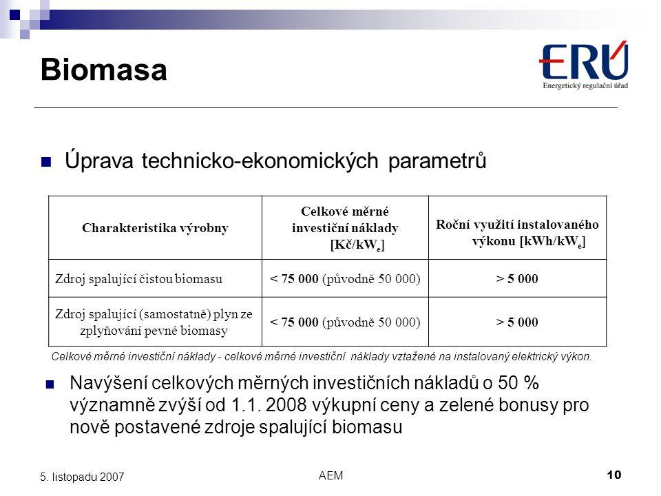 Biomasa Úprava technicko-ekonomických parametrů
