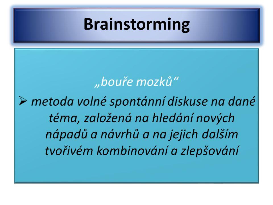 """Brainstorming """"bouře mozků"""