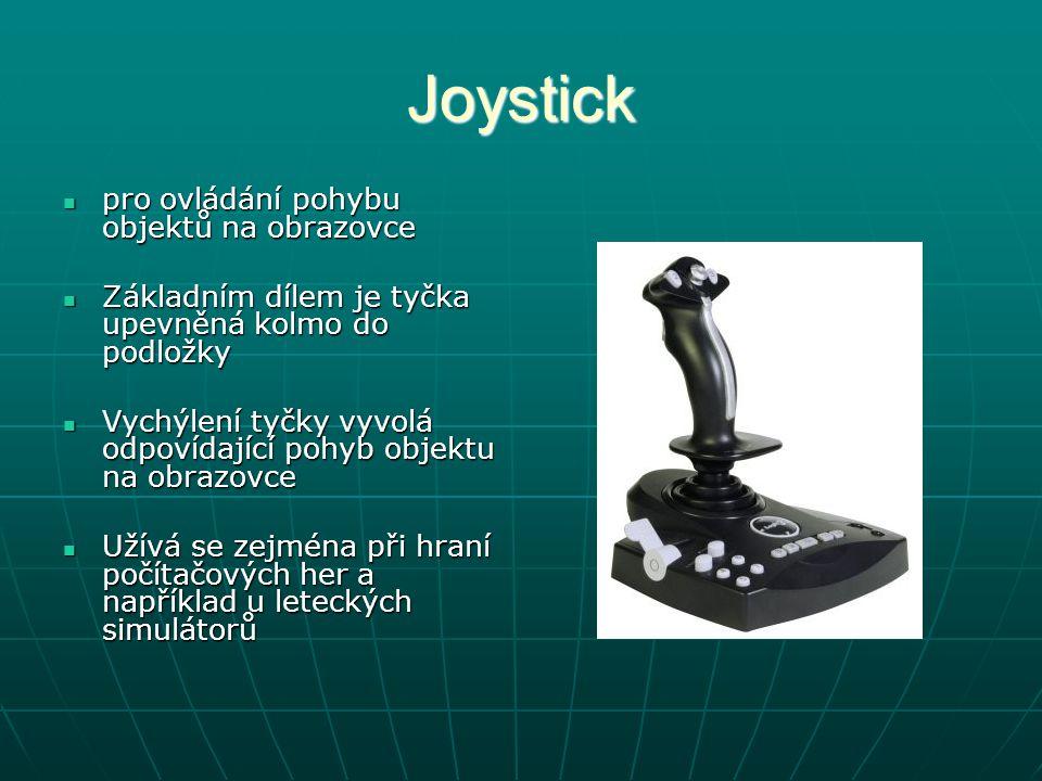 Joystick pro ovládání pohybu objektů na obrazovce