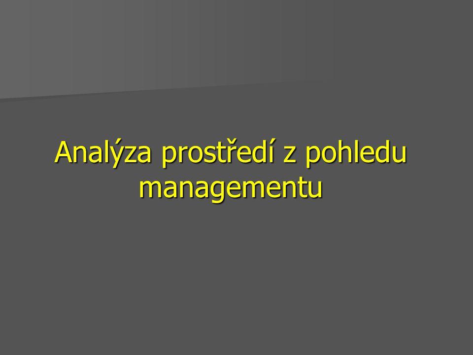 Analýza prostředí z pohledu managementu