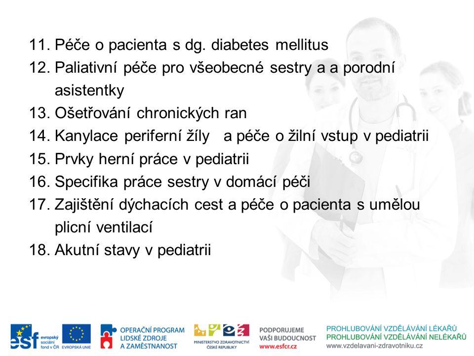 11. Péče o pacienta s dg. diabetes mellitus