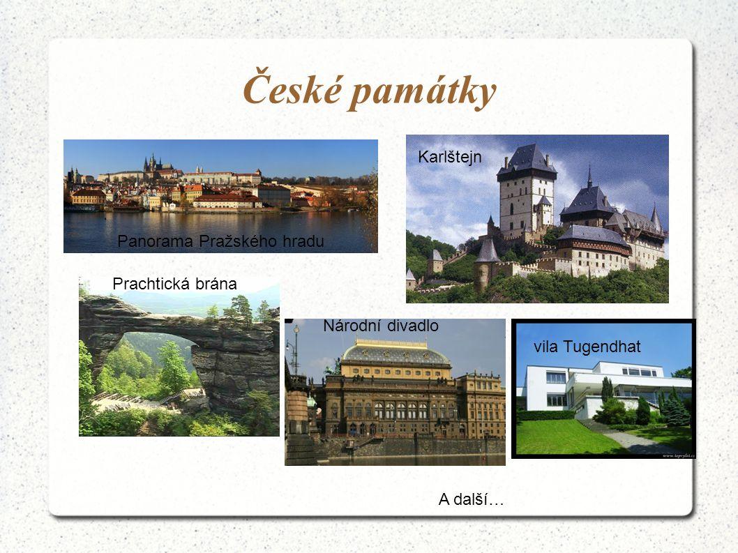 České památky Karlštejn Panorama Pražského hradu Prachtická brána