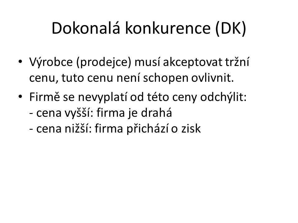 Dokonalá konkurence (DK)