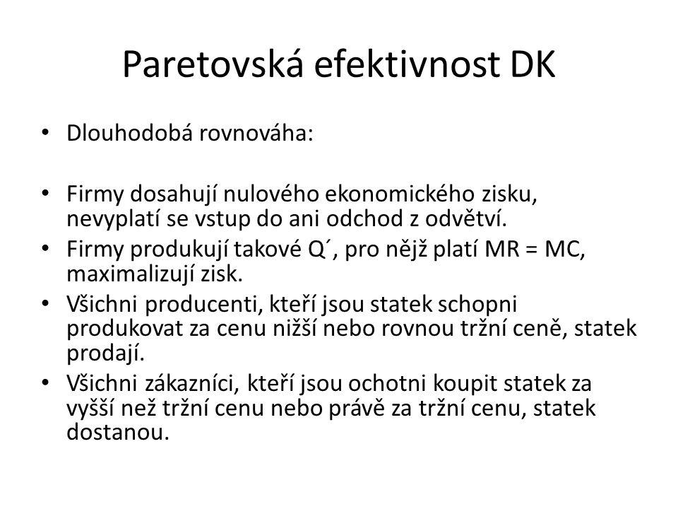 Paretovská efektivnost DK