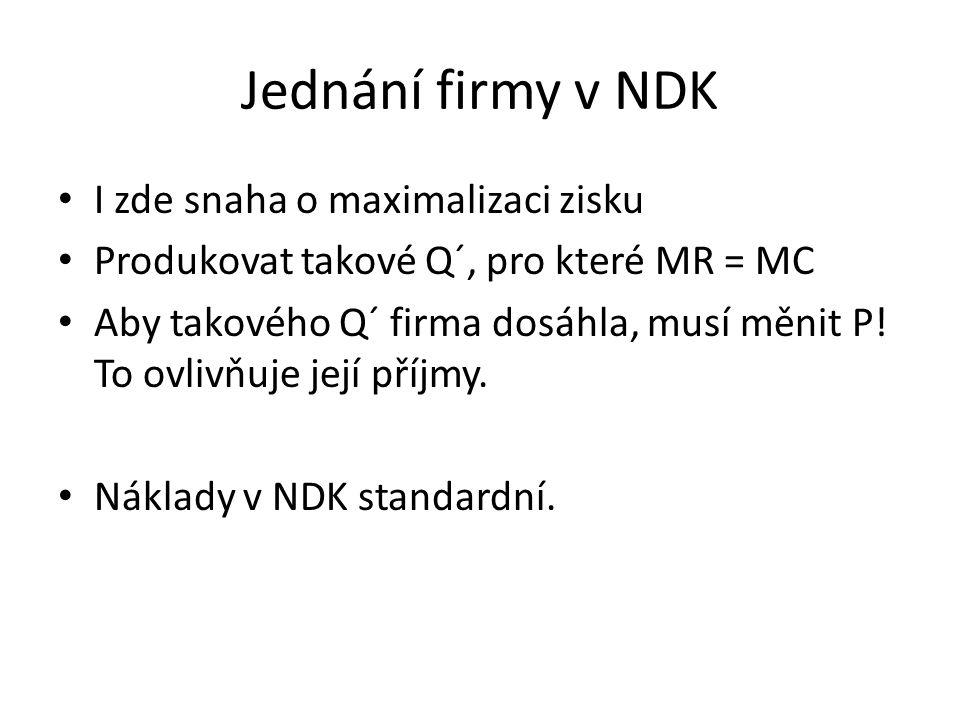 Jednání firmy v NDK I zde snaha o maximalizaci zisku