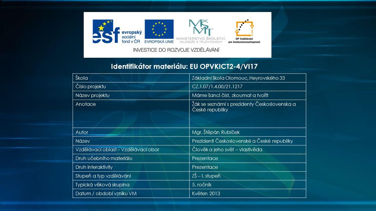 Identifikátor materiálu: EU OPVKICT2-4/Vl17
