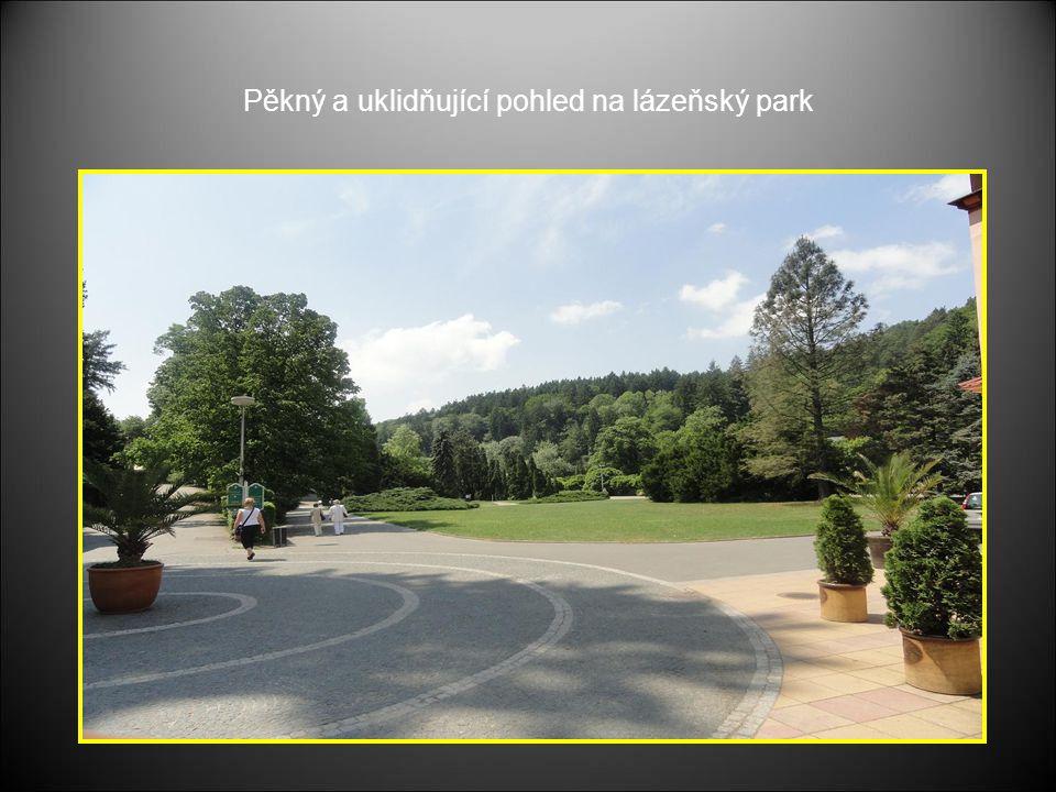 Pěkný a uklidňující pohled na lázeňský park