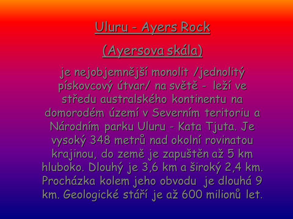 Uluru - Ayers Rock (Ayersova skála)