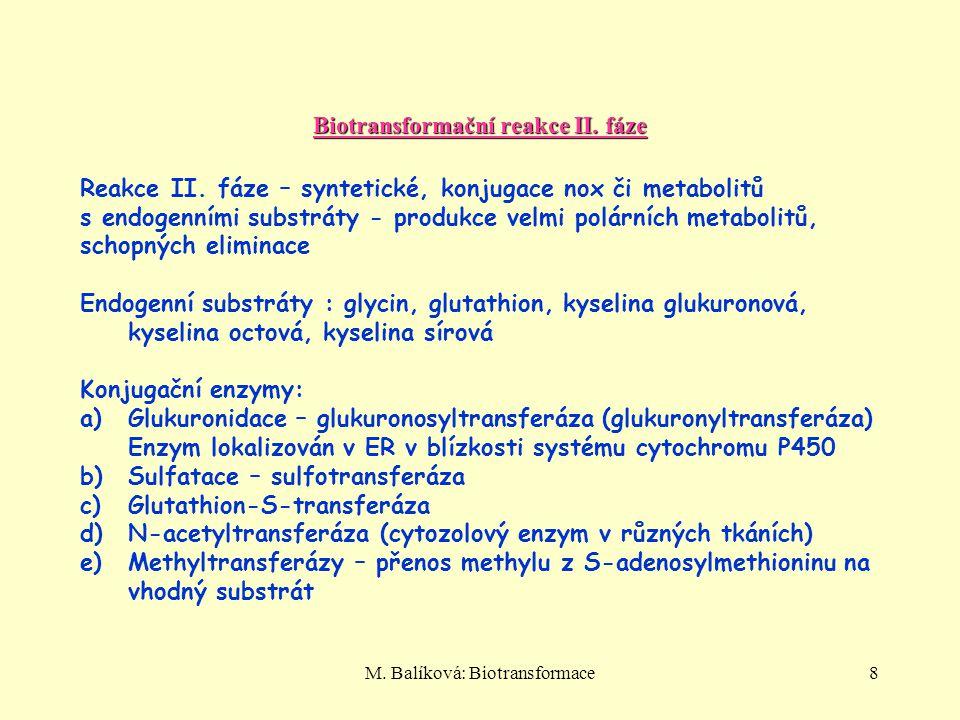 Biotransformační reakce II. fáze