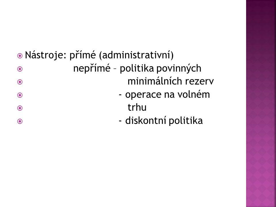 Nástroje: přímé (administrativní)