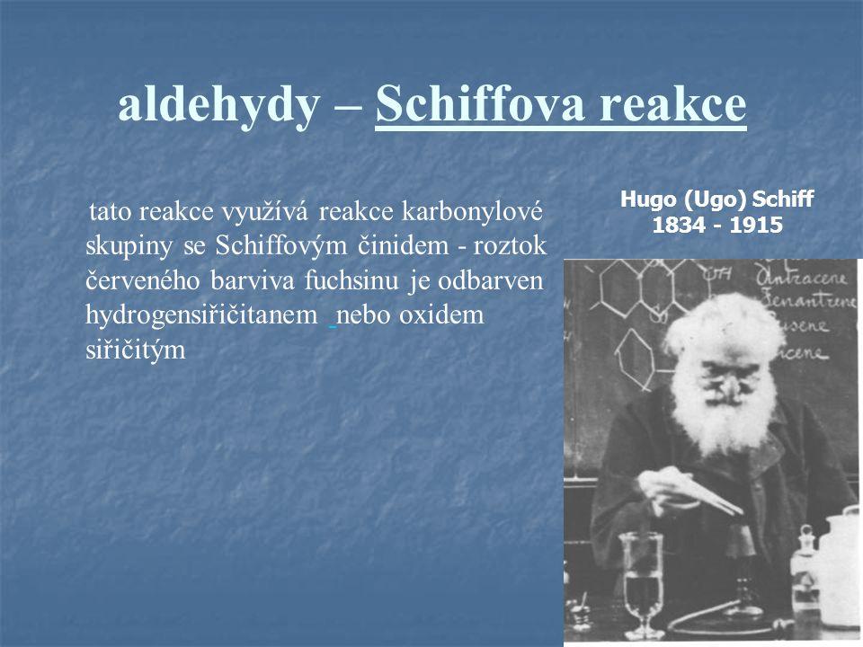 aldehydy – Schiffova reakce