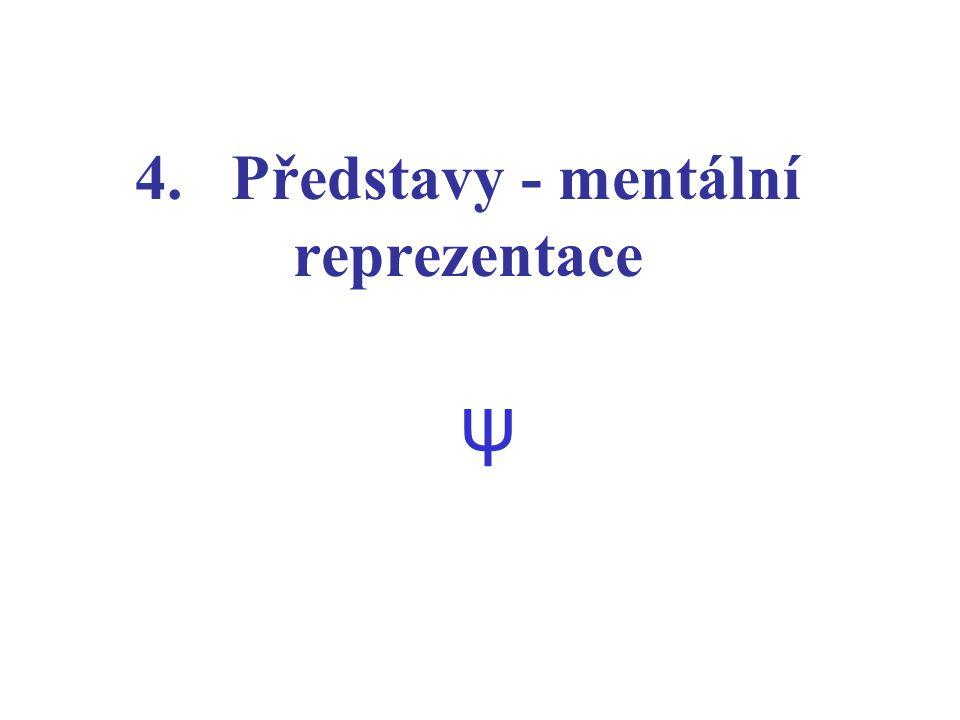 4. Představy - mentální reprezentace