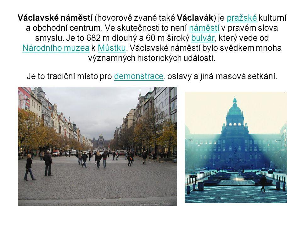 Václavské náměstí (hovorově zvané také Václavák) je pražské kulturní a obchodní centrum.