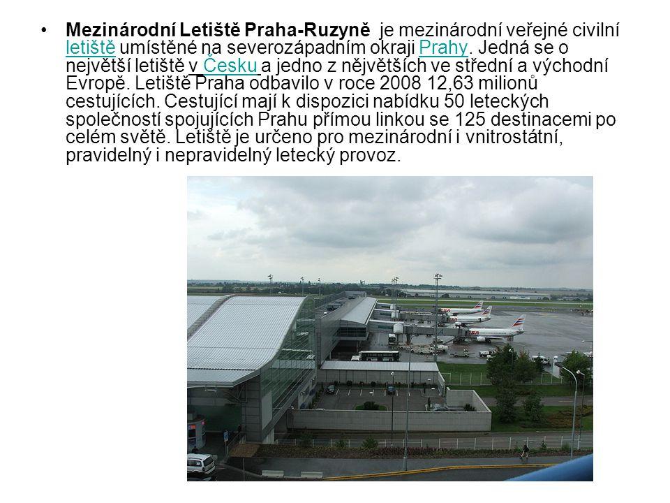 Mezinárodní Letiště Praha-Ruzyně je mezinárodní veřejné civilní letiště umístěné na severozápadním okraji Prahy.