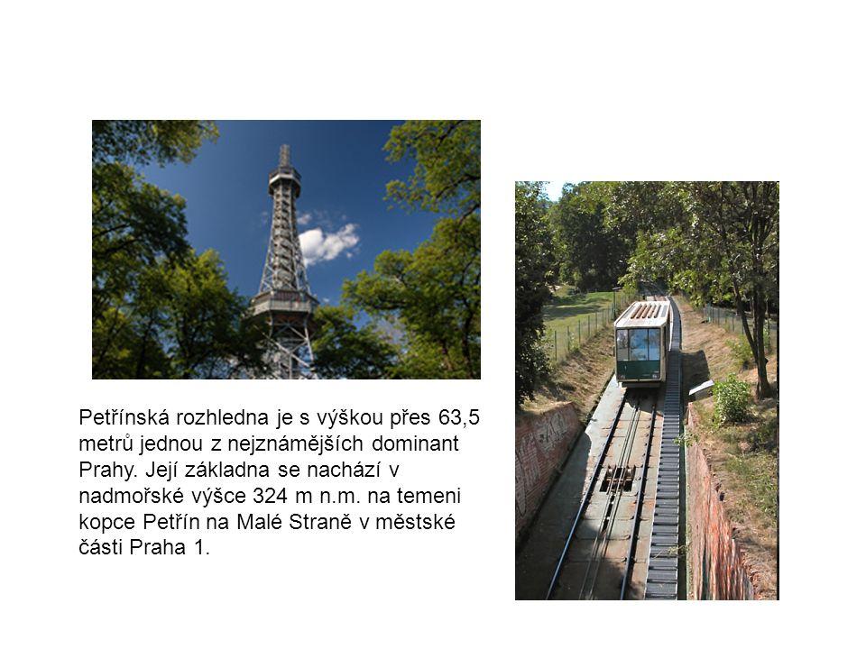 Petřínská rozhledna je s výškou přes 63,5 metrů jednou z nejznámějších dominant Prahy.