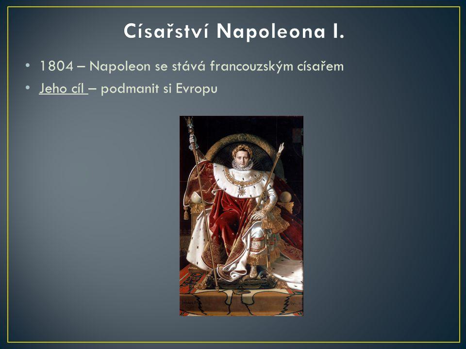 Císařství Napoleona I. 1804 – Napoleon se stává francouzským císařem
