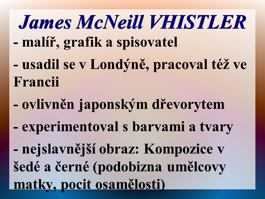James McNeill VHISTLER
