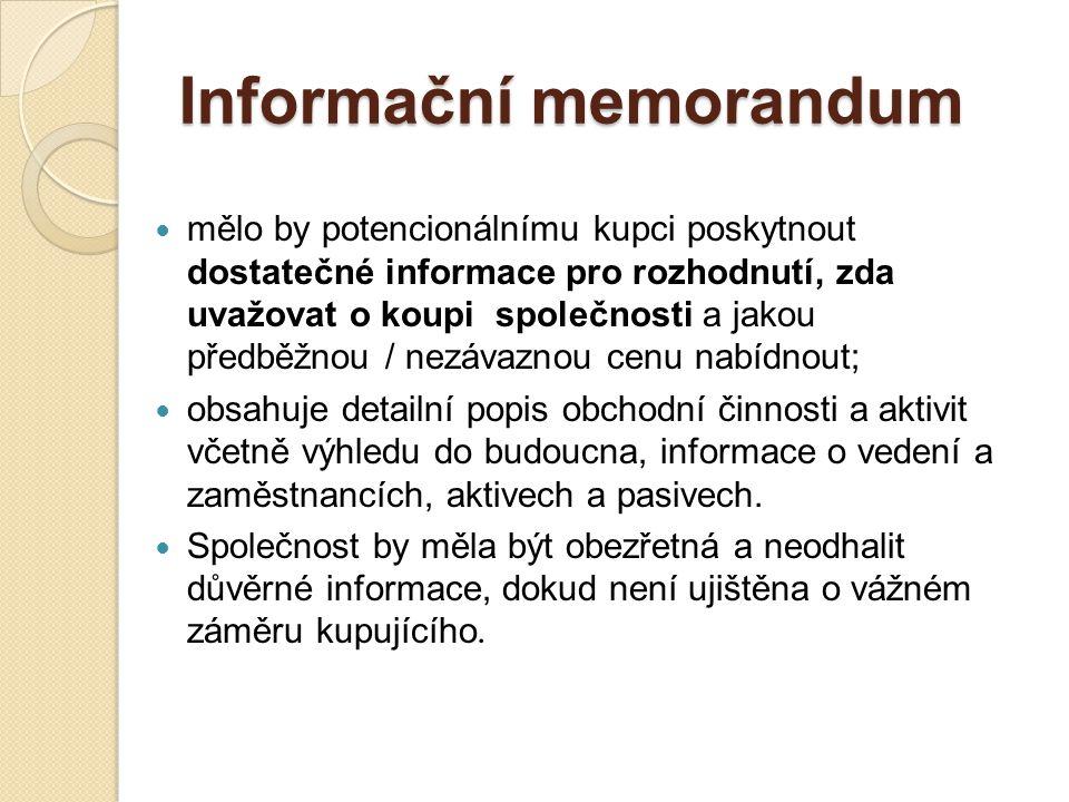 Informační memorandum