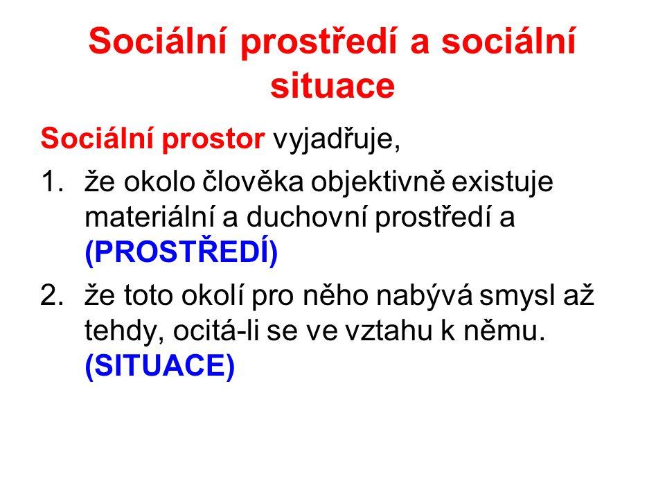Sociální prostředí a sociální situace