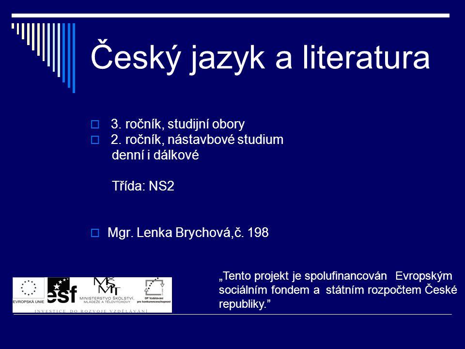 Český jazyk a literatura
